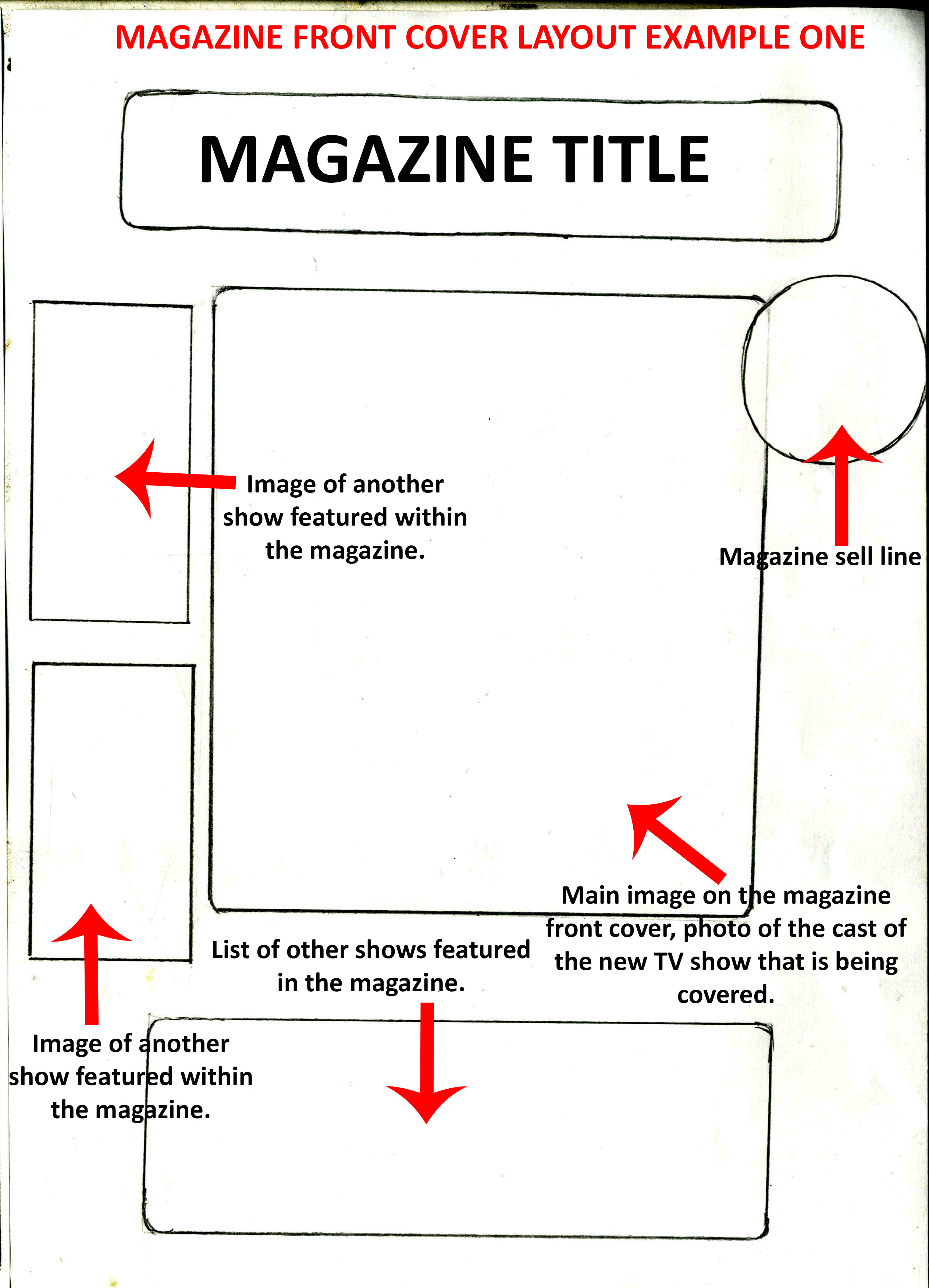 magazine layout word